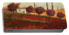 Papaveri In Toscana Portable Battery Charger