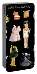 Paper Doll Amy Portable Battery Charger