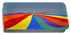 Portable Battery Charger featuring the photograph Parachute Of Many Colors by Verana Stark