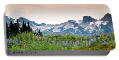 Portable Battery Charger featuring the photograph Paradise Meadows And The Tatoosh Range by Jeff Goulden