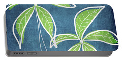 Paradise Palm Trees Portable Battery Charger by Linda Woods