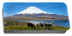 Parinacota Volcano Lake Chungara Chile Portable Battery Charger
