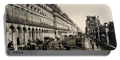 Paris 1900 Rue De Rivoli Portable Battery Charger by Ira Shander