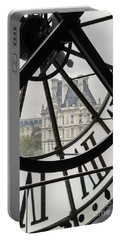 Paris Clock Portable Battery Charger by Brian Jannsen