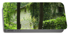 Portable Battery Charger featuring the photograph Paris - Green House by HEVi FineArt
