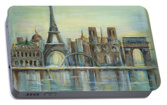 Paris Highlights Portable Battery Charger by Marilyn Dunlap