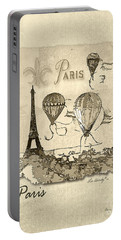 Paris In Sepia Portable Battery Charger