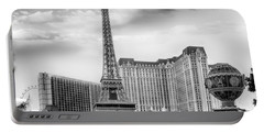 Portable Battery Charger featuring the photograph Paris Las Vegas by Howard Salmon