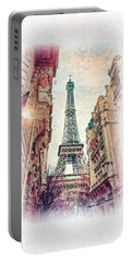 Paris Mon Amour Portable Battery Charger by Mo T