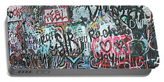 Portable Battery Charger featuring the photograph Paris Mountain Graffiti by Kathy Barney