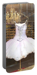 Paris Repetto Ballet Shop Tutu Photo - Paris Ballerina Dress - Repetto Ballet Shop - Paris Ballerina Portable Battery Charger by Kathy Fornal