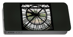 Portable Battery Charger featuring the photograph Paris Time by Ann Horn