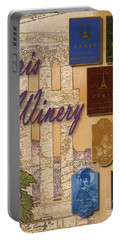 Paris Winery Labels Portable Battery Charger
