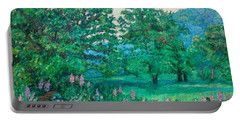 Portable Battery Charger featuring the painting Park Road In Radford by Kendall Kessler
