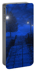 Portable Battery Charger featuring the photograph Park Stairs by Michael Rucker