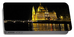 Parliament At Night Portable Battery Charger