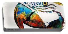 Parrot Head Art By Sharon Cummings Portable Battery Charger
