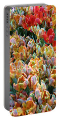 Parrot Tulips Portable Battery Charger by Tanya  Searcy