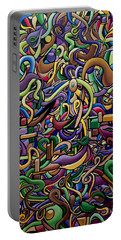 Party Life 2 - Modern Abstract Painting - Ai P. Nilson Portable Battery Charger