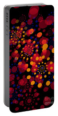 Party Time Abstract Painting Portable Battery Charger by Claudia Ellis
