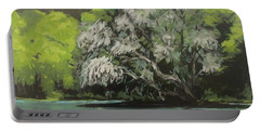 Portable Battery Charger featuring the painting Passing by Karen Ilari