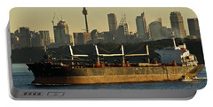 Portable Battery Charger featuring the photograph Passing Sydney In The Sunset by Miroslava Jurcik