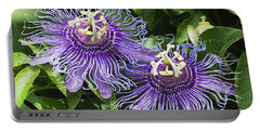 Passion Flowers Portable Battery Charger