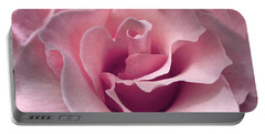 Passion Pink Rose Flower Portable Battery Charger