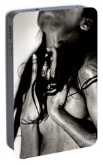 Portable Battery Charger featuring the photograph Passionate African Nude Woman - Stone Town Editions by Amyn Nasser