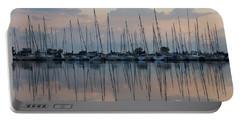 Pastel Sailboats Reflections At Dusk Portable Battery Charger