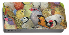 Patchwork Birds Portable Battery Charger by Ditz