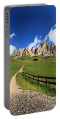 Portable Battery Charger featuring the photograph path in Gardena pass by Antonio Scarpi