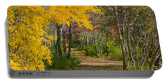 Path Through Autumn Trees Portable Battery Charger