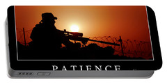 Patience Inspirational Quote Portable Battery Charger