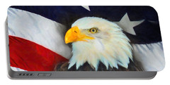 Patriotic American Flag And Eagle Portable Battery Charger