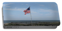 Patriotic Beach View Portable Battery Charger