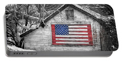Patriotic American Shed Portable Battery Charger