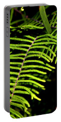 Portable Battery Charger featuring the photograph Pauched Coral Fern by Miroslava Jurcik