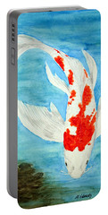 Paul's Koi Portable Battery Charger by Marna Edwards Flavell