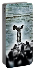 Pause - The Winged Victory In Louvre Paris Portable Battery Charger by Marianna Mills