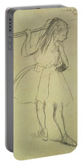 Girl Dancer At The Barre Portable Battery Charger