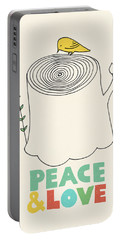 Peace And Love Portable Battery Charger