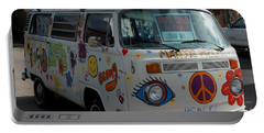 Peace And Love Van Portable Battery Charger by Dany Lison