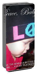 Portable Battery Charger featuring the photograph Peace Baby by Bobbee Rickard
