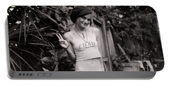 Portable Battery Charger featuring the photograph Peace Chick by Greg Allore