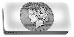 Graphite Peace Dollar Portable Battery Charger