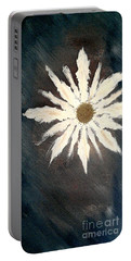 Portable Battery Charger featuring the painting Peace Flower by Jacqueline McReynolds