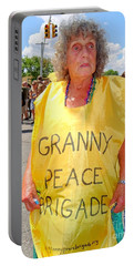 Portable Battery Charger featuring the photograph Peace Granny by Ed Weidman
