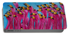 Peace Love And Flamingos Portable Battery Charger