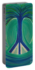 Peace Tree By Jrr Portable Battery Charger by First Star Art